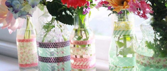 How to make Washi Tape Vases