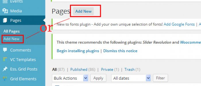 How to Add/Edit Page in WordPress 4.3