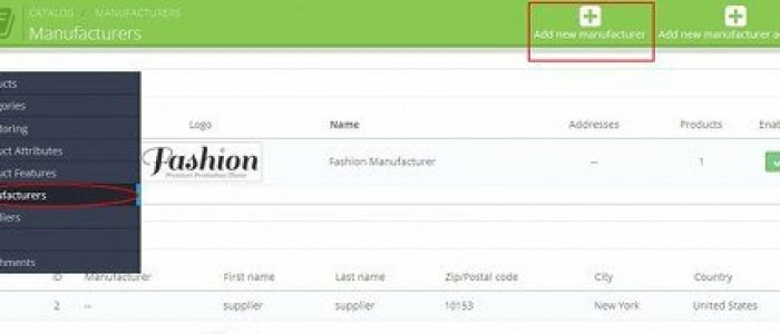 How to manage manufacturers in Prestashop 1.6
